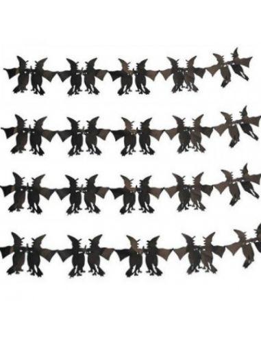 Guirnalda negra de brujas