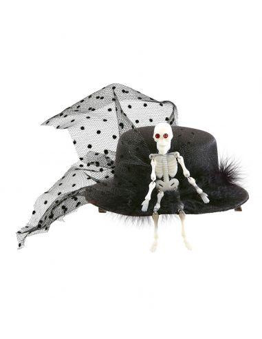 Mini sombrero de esqueleto