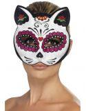 Máscara gata esqueleto