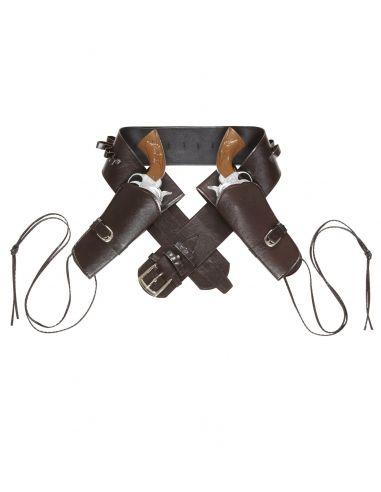 Cinturón vaquero con cartucheras