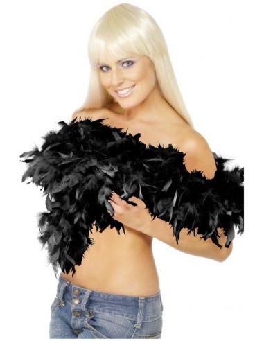 Boa negra con pluma 80g
