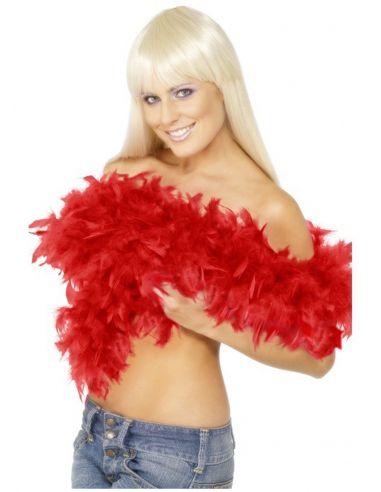 Boa roja con pluma 80g