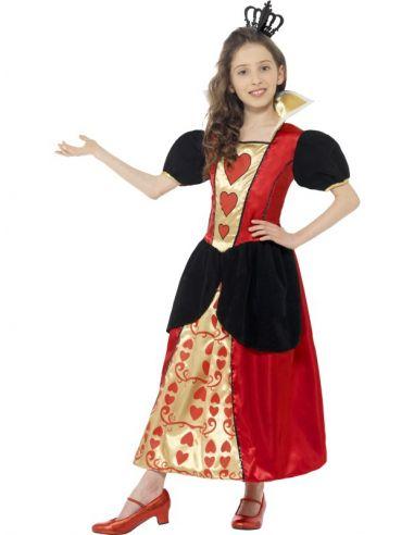 Disfraz de Reina de Corazones niña