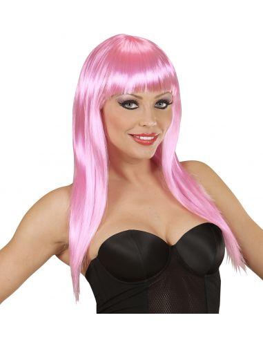 Peluca rosa lisa