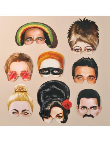 Máscaras vintage leyendas de la música