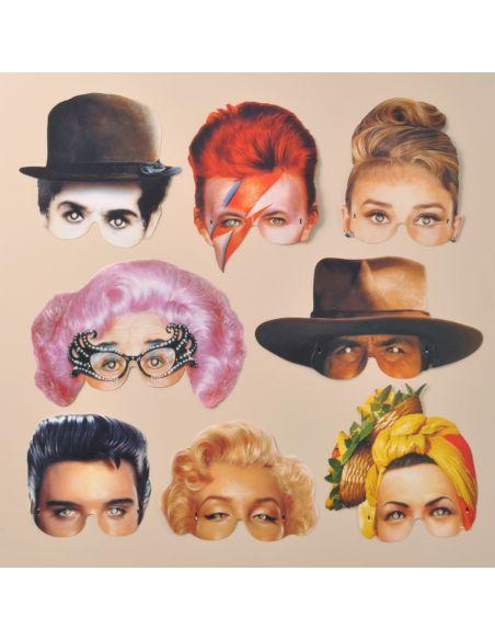 Máscaras vintage famosos