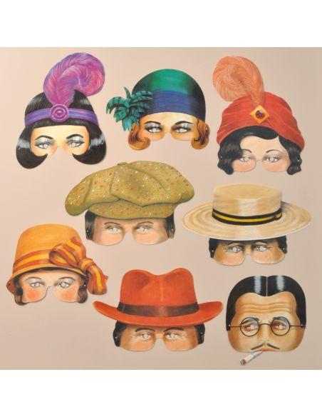 Máscaras vintage años 20