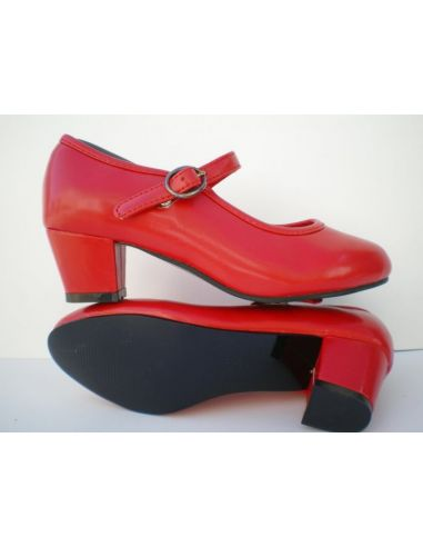 Zapatos Flamenca rojo