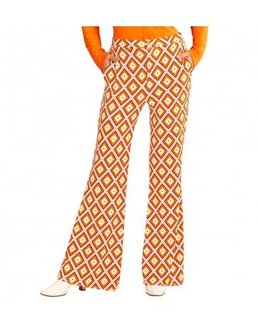 Pantalón retro rombos de los años 70 para mujer