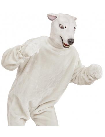 Máscara de oso polar blanco para adulto