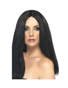 Peluca negra larga