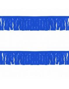 Banderin de flecos azul de plástico