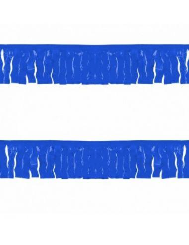 Guirnalda de flecos azul de plástico