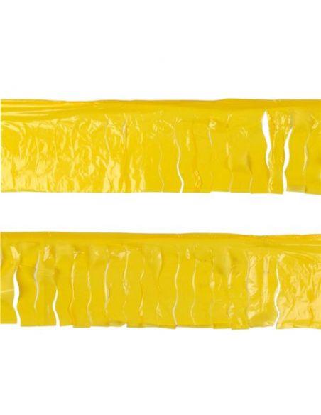 Banderin flecos amarillo plástico