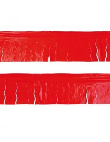 Banderin flecos rojo plástico