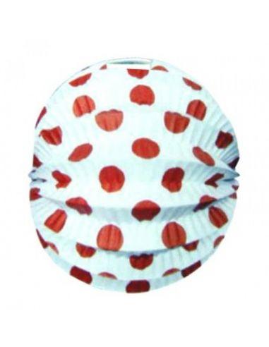 Farolillo blanco lunares rojo