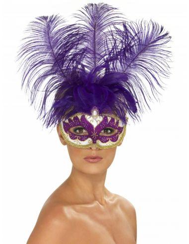 Máscara morada veneciana