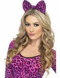 Diadema de leopardo rosa