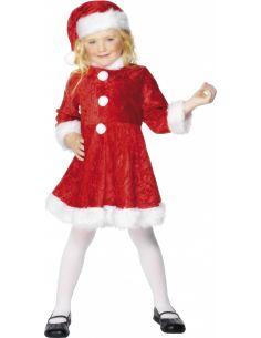 Disfraz de Mama Noel niña