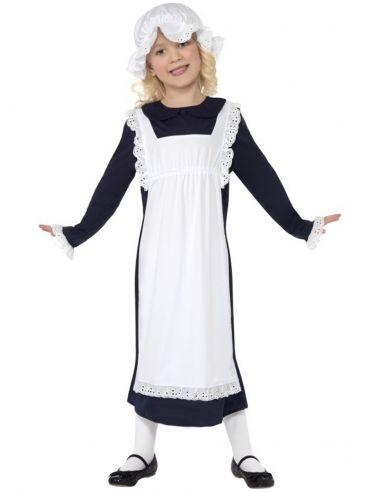 Disfraz de chica pobre victoriana para niña