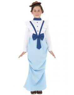 Disfraz de señorita victoriana para niña