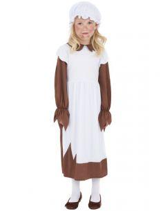 Disfraz de pobre victoriana para niña