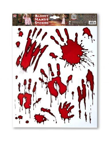Pegatinas manos sangrientas