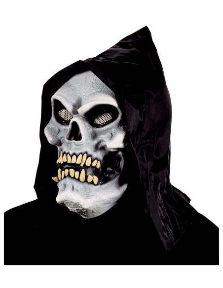Máscara esqueleto capucha blanca