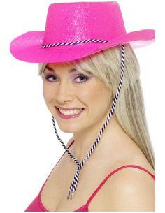 sombrero de vaquero rosa nen