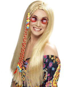 Peluca rubia hippy