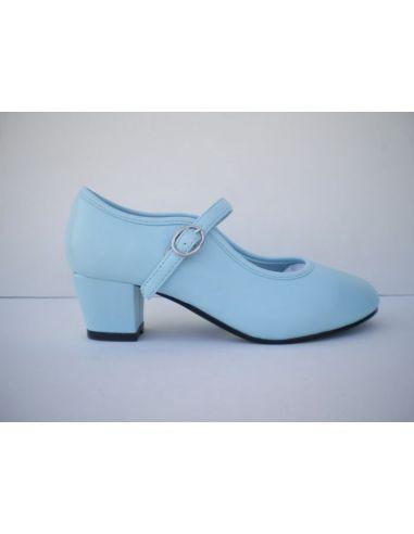 Zapatos Flamenca azul celeste