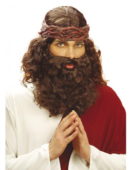peluca y barba de profeta
