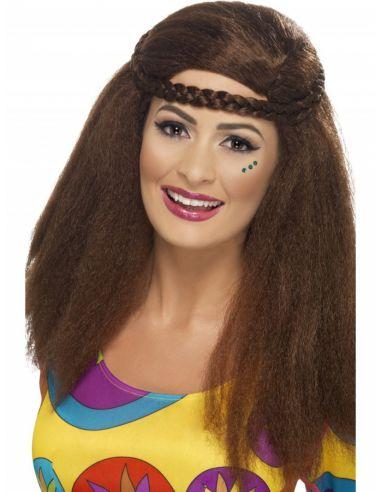Peluca hippy para mujer