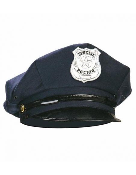 gorra de polica con placa