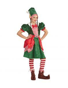 Disfraz Elfa Ayudante de Papa Noel
