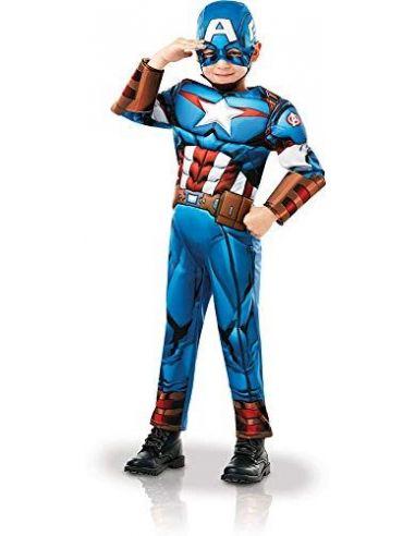 Disfraz de Capitán America Deluxe infantil