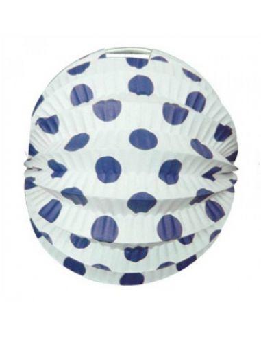 Farolillo blanco lunares azul