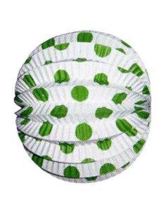 Farolillo blanco lunares verde