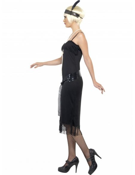 Disfraz de Charleston negro adulto