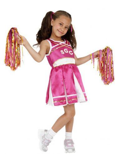 disfraz de animadora rosa para nia