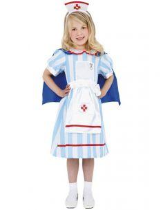 disfraz de enfermera vintage para nia